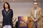 Lynne Meadow and Barry Grove attends the Meet & Greet for the Manhattan Theatre Club's Broadway Premiere of 'Prince of Broadway' at the MTC Studios on July 20, 2017 in New York City.