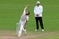 Michael Hogan in bowling action for Glamorgan during Glamorgan CCC vs Essex CCC, Specsavers County Championship Division 2 Cricket at the SSE SWALEC Stadium on 23rd May 2016