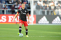 WASHINGTON, DC - MARCH 07: Frederic Brilliant #13 of D.C. United moves the ball during a game between Inter Miami CF and D.C. United at Audi Field on March 07, 2020 in Washington, DC.