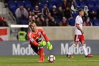 Harrison, NJ - Wednesday Feb. 22, 2017: Luis Robles during a Scotiabank CONCACAF Champions League quarterfinal match between the New York Red Bulls and the Vancouver Whitecaps FC at Red Bull Arena.