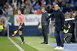 CD Leganes' coach Mauricio Pellegrino (L) and Deportivo Alaves' coach Abelardo Fernandez  during La Liga match. November 23,2018. (ALTERPHOTOS/Alconada)