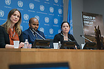 Cradled by Conflict: Child Involvement with Armed Groups in Contemporary Conflict - Press Conference (12 February 2018)<br /> 12 Feb 2018 - Press conference by Dr. Siobhan O'Neil, Project Manager of the United Nations University's Children and Extreme Violence Project and editor of the report entitled Cradled by Conflict: Child Involvement with Armed Groups in Contemporary Conflict, along with Mr. Boukary Sangaré and Ms. Mara Revkin, lead researchers of the report