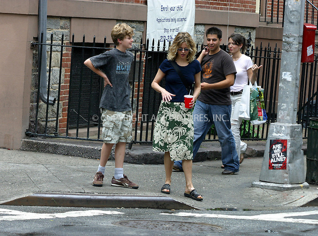 WWW.ACEPIXS.COM . . . . .  ....NEW YORK, JUNE 27, 2005....Meg Ryan and son Jack Henry Quaid take a leisurely stroll through SoHo.....Please byline: PAUL CUNNINGHAM - ACE PICTURES..... *** ***..Ace Pictures, Inc:  ..Craig Ashby (212) 243-8787..e-mail: picturedesk@acepixs.com..web: http://www.acepixs.com