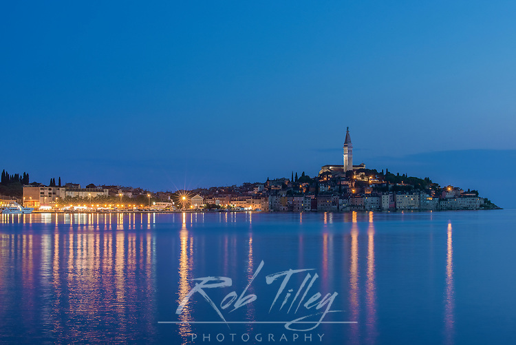 Croatia, Istria, Twilight Rovinj