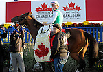 09 October 17: Champs Elysees, ridden by Garrett Gomez and trained by Robert Frankel, wins the grade 1 Canadian International Stakes for three year olds and upward at Woodbine Racetrack in Rexdale, Ontario.