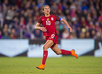 Orlando, FL - March 7, 2018: The USWNT defeated England 1-0 to win the SheBelieves Cup at Orlando City Stadium.