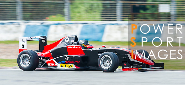 Oliver Askew of USA and Absolute Racing drives during Formula Masters China Series as part of the 2015 Pan Delta Super Racing Festival at Zhuhai International Circuit on September 18, 2015 in Zhuhai, China.  Photo by Moses Ng/ Power Sport Images