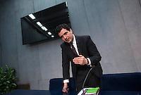 Il direttore dell'Autorità di Informazione Finanziaria (AIF) Tommaso Di Ruzza durante la conferenza stampa per la presentazione del rapporto annuale, Citta' del Vaticano, 28 aprile 2016.<br /> Tommaso Di Ruzza, president of the Financial Information Authority (AIF) of Vatican City, attends a press conference to present the annual report, at the Vatican, 28 April 2016.<br /> UPDATE IMAGES PRESS/Riccardo De Luca<br /> <br /> STRICTLY ONLY FOR EDITORIAL USE