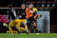 2nd October 2020; Tannadice Park, Dundee, Scotland; Scottish Premiership Football, Dundee United versus Livingston; Lawrence Shankland of Dundee United flicks the ball on into attack
