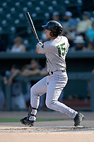 Third baseman Shane Matheny (15) of the Augusta GreenJackets bats in a game against the Columbia Fireflies on Saturday, June 1, 2019, at Segra Park in Columbia, South Carolina. Columbia won, 3-2. (Tom Priddy/Four Seam Images)