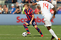 KANSAS CITY, KS - JULY 18: Jackson Yueill #14 of the United States during a game between Canada and USMNT at Children's Mercy Park on July 18, 2021 in Kansas City, Kansas.