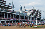 May 2, 2014: The field heads into the clubhouse turn during the Kentucky Oaks on Kentucky Oaks Day at Churchill Downs in Louisville, KY. Logan Riely/ESW/CSM