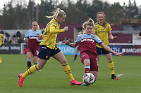 Esmee de Graaf of West Ham and Beth Mead of Arsenal during West Ham United Women vs Arsenal Women, Women's FA Cup Football at Rush Green Stadium on 26th January 2020