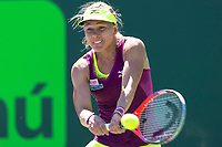KEY BISCAYNE, FL - MARCH 22: Johanna Larsson on day 10 of the Miami Open at Crandon Park Tennis Center on March 22, 2018 in Key Biscayne, Florida. <br /> <br /> <br /> People:  Johanna Larsson