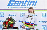 Picture by Simon Wilkinson/SWpix.com - 26/09/2020 - Cycling - UCI 2020 Road World Championships IMOLA - EMILIA-ROMAGNA ITALY - Road Race Women Elite - Anna Van Der Breggen of The Netherlands wins the Women's Elite Road Race. - SANTINI