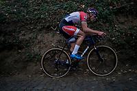 Mathieu van der Poel (NED/Beobank-Corendon) up the steep Koppenberg<br /> <br /> Elite Men's race<br /> Koppenbergcross / Belgium 2017