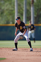 Pittsburgh Pirates shortstop Andrew Walker (77) during a minor league Extended Spring Training intrasquad game on April 1, 2017 at Pirate City in Bradenton, Florida.  (Mike Janes/Four Seam Images)