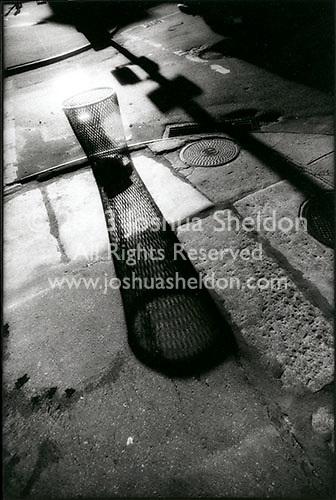 Shadow of trash receptical<br />