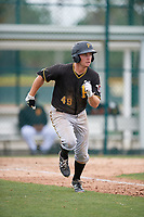 Pittsburgh Pirates right fielder Ryan Nagle (49) runs to first base during a minor league Extended Spring Training intrasquad game on April 1, 2017 at Pirate City in Bradenton, Florida.  (Mike Janes/Four Seam Images)