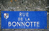 Europe/France/Pays de la Loire/85/Vendée/Ile de Noirmoutier/Le Vieil: Plaque de la rue de la Bonnotte