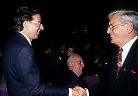 Robert Bourassa et l'hommage qui lui est rendu au congres du PLQ en mars 1994<br /> <br /> Photo:  Agence Quebec Presse