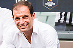 Juventus' head coach Massimiliano Allegri smiles at the South China vs Juventus match of the AET International Challenge Cup on 30 July 2016 at Hong Kong Stadium, in Hong Kong, China.  Photo by Marcio Machado / Power Sport Images