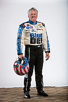 Feb 5, 2020; Pomona, CA, USA; NHRA funny car driver John Force poses for a portrait during NHRA Media Day at the Pomona Fairplex. Mandatory Credit: Mark J. Rebilas-USA TODAY Sports