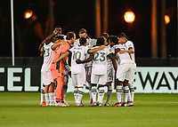 LAKE BUENA VISTA, FL - AUGUST 01: Portland Timbers huddle during a game between Portland Timbers and New York City FC at ESPN Wide World of Sports on August 01, 2020 in Lake Buena Vista, Florida.