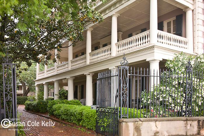 The Edmonston-Alston House on The Battery, Charleston, SC, a National Historic Landmark district.