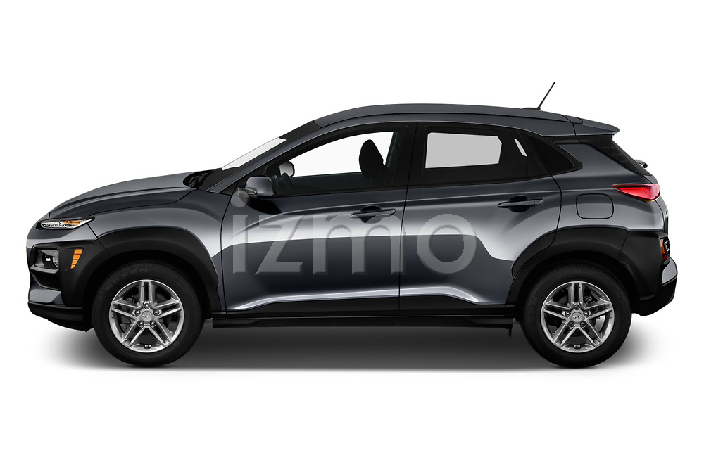 Car Driver side profile view of a 2020 Hyundai Kona SE 5 Door SUV Side View