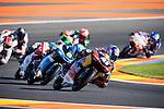 VALENCIA, SPAIN - NOVEMBER 11: Brad Binder, Nicolo Bulega during Valencia MotoGP 2016 at Ricardo Tormo Circuit on November 11, 2016 in Valencia, Spain