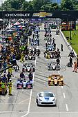 Verizon IndyCar Series<br /> Chevrolet Detroit Grand Prix Race 2<br /> Raceway at Belle Isle Park, Detroit, MI USA<br /> Sunday 4 June 2017<br /> Chevy Corvette pace car, Ryan Hunter-Reay, Andretti Autosport Honda, Takuma Sato, Andretti Autosport Honda pre-race grid<br /> World Copyright: Scott R LePage<br /> LAT Images<br /> ref: Digital Image lepage-170604-DGP-9181
