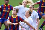Liga IBERDROLA 2020-2021. Jornada: 18.<br /> FC Barcelona vs R. Madrid: 4-1.<br /> Marta Torrejon vs Babett Peter.