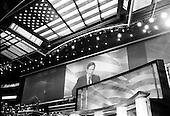 Boston, Massachusetts.USA.July 28, 2004..The Democratic National Convention in the Fleetcenter. Dennis Kucinich, U.S. Representative addressing the crowd.