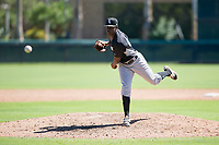 Chicago White Sox pitcher Andre Wheeler (47) follows through on his delivery during an Instructional League game against the Los Angeles Dodgers on September 30, 2017 at Camelback Ranch in Glendale, Arizona. (Zachary Lucy/Four Seam Images)