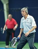 Hilversum, The Netherlands, March 10, 2016,  Tulip Tennis Center, NOVK, men's doubles Hans Adema Van Scheltema (foreground) and Nico Welchen<br /> Photo: Tennisimages/Henk Koster