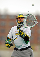 10 April 2007: University of Vermont Catamounts' Daryl Swarts, a Senior from Ann Arbor, MI, in action against the Holy Cross Crusaders at Moulton Winder Field, in Burlington, Vermont. The Crusaders rallied to defeat the Catamounts 5-4...Mandatory Photo Credit: Ed Wolfstein Photo