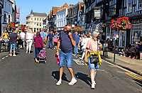 Stratford-upon-Avon is a market town in the county of Warwickshire, England, on the River Avon. The town is a popular tourist destination as the birthplace and gravesite of playwright and poet William Shakespeare. Saturday September 19th 2020<br /> <br /> Photo by Keith Mayhew