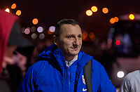 COLUMBUS, OH - NOVEMBER 07: Vlatko Andonovski of the United States walks into the stadium during a game between Sweden and USWNT at Mapfre Stadium on November 07, 2019 in Columbus, Ohio.