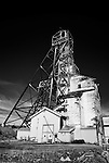 Giant mine headframe