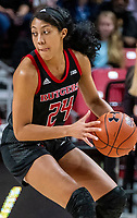 COLLEGE PARK, MD - FEBRUARY 9: Arella Guirantes #24 of Rutgers on the attack during a game between Rutgers and Maryland at Xfinity Center on February 9, 2020 in College Park, Maryland.