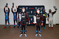 Winners #21 Bryan Herta Autosport w/ Curb Agajanian Hyundai Veloster N TCR, TCR: Mark Wilkins, Harry Gottsacker, podium, #98 Bryan Herta Autosport w/ Curb Agajanian Hyundai Veloster N TCR, TCR: Michael Lewis, Mason Filippi, #47 Forty7 Motorsports Hyundai Veloster N TCR, TCR: Ben Waddell, Alex Papadopulos
