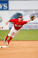 July 17, 2009:  Second Baseman Devin Goodwin of the Batavia Muckdogs during a game at Dwyer Stadium in Batavia, NY.  The Muckdogs are the NY-Penn League Short-Season Class-A affiliate of the St. Louis Cardinals.  Photo By Mike Janes/Four Seam Images