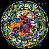 Randy, EASTER RELIGIOUS, OSTERN RELIGIÖS, PASCUA RELIGIOSA, paintings+++++SG-St-Francis-round,USRW177,#ER# church window,stained glass