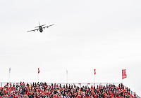 24 March 2012: The Toronto FC Fans were treated to a Fly- By during the opening ceremonies in a game between the San Jose Earthquakes and Toronto FC at BMO Field in Toronto..The San Jose Earthquakes won 3-0..