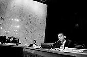 Washington DC, .District of Columbia.USA.January 31, 2007..Illinois Democrat Barak Obama questions Henry Kissinger at Senate hearing concerning the war in Iraq....