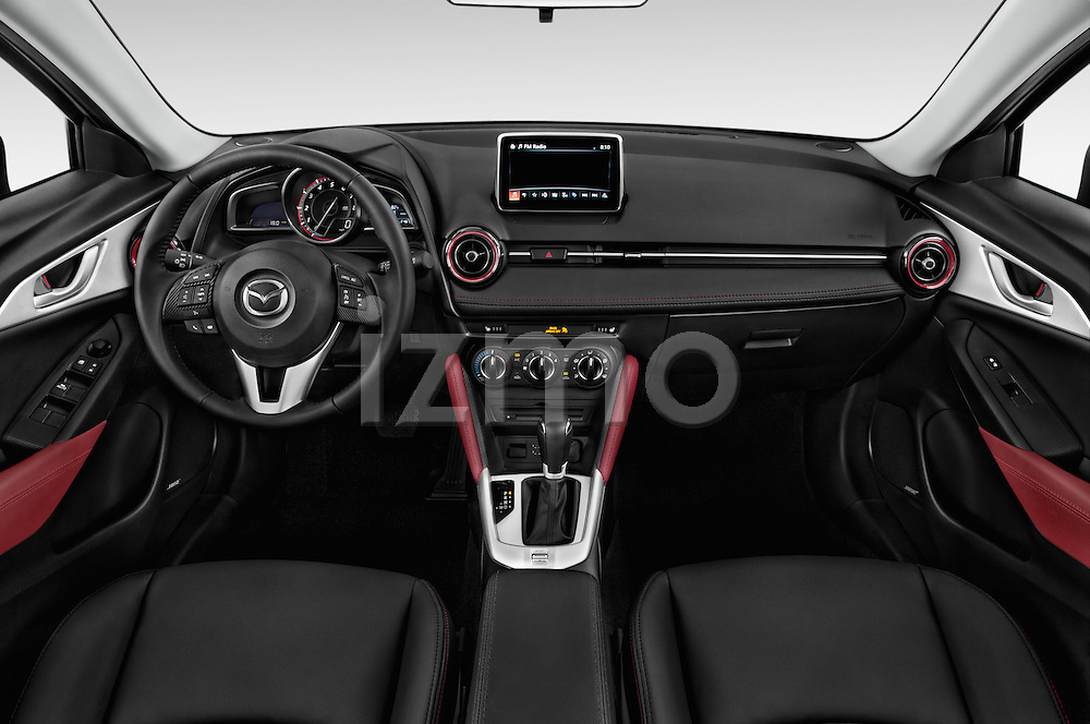 Stock photo of straight dashboard view of 2017 Mazda CX-3 Touring-AWD 5 Door SUV Dashboard