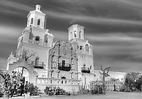 A National Historic Landmark, San Xavier Mission was founded as a Catholic mission by Father Eusebio Kino in 1692. Construction of the current church began in 1783 and was completed in 1797. <br /> <br /> The oldest intact European structure in Arizona, the church's interior is filled with marvelous original statuary and mural paintings. It is a place where visitors can truly step back in time and enter an authentic 18th Century space.