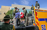 Honor Guard members unload the casket of Carson City Sheriff's Deputy Carl Howell at the Reno Events Center in Reno, Nev., on Thursday, Aug. 20, 2015. Howell was shot and killed early Saturday morning after responding to a domestic violence call. (Cathleen Allison/Las Vegas Review-Journal)
