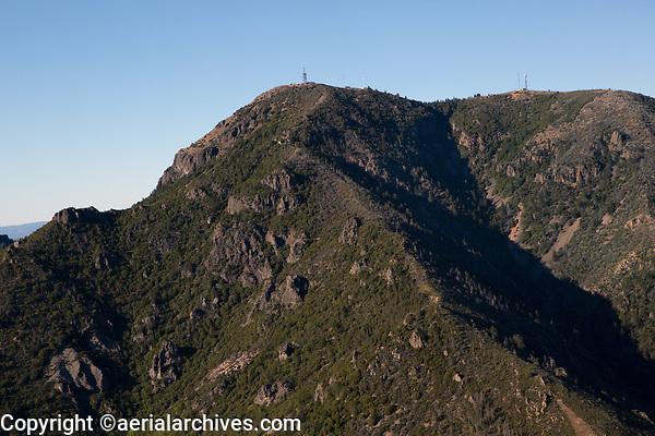 aerial photograph of Mount St. Helena, Napa County, California